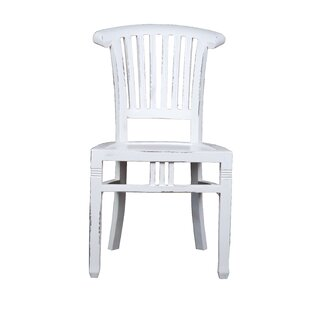 Shirly Cottage Slat Back Solid Wood Dining Chair (Set of 2) August Grove
