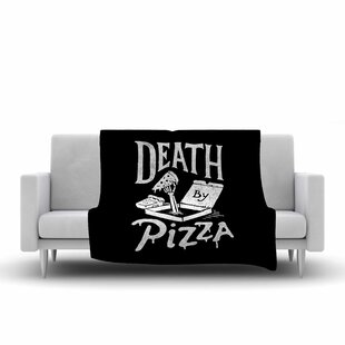 Great choice Tatak Waskitho Death By Pizza Food Fleece Blanket By East Urban Home