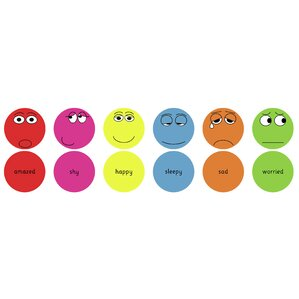 Emotions English Kids Floor Cushion (Set of 6) by KaloKids