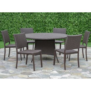 Brayden Studio Bourdon 7 Piece Dining Set