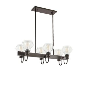 Dahms Linear 6-Light Kitchen Island Pendant by Breakwater Bay