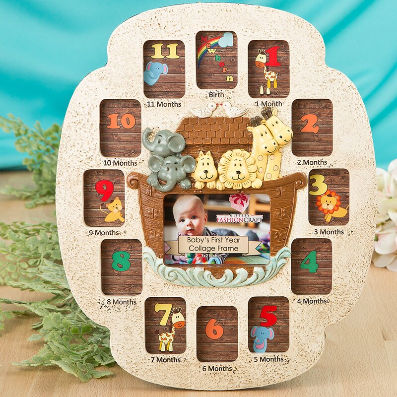 FashionCraft Noah\'s Ark Baby\'s First Year Collage Picture Frame ...