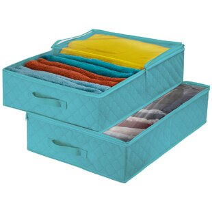 Inexpensive Storage Closet Fabric Cube or Bin By Rebrilliant