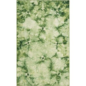 Mahoney Green Area Rug