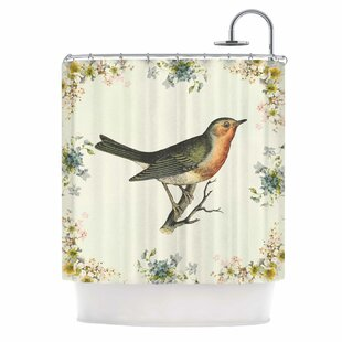Vintage Bird 3 by NL Designs Single Shower Curtain