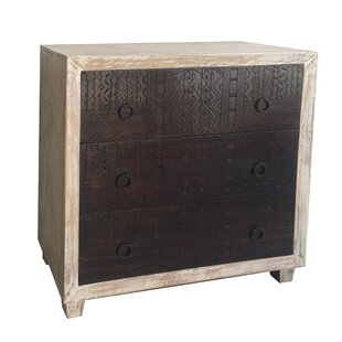 Bertrand Maya Carving Range 3 Drawer Chest By Bloomsbury Market