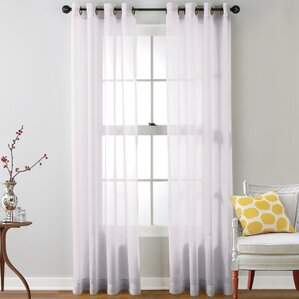 caldera sheer solid grommet curtain panel set of 2