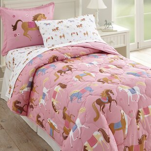 Olive Kids Horses 4 Piece Toddler Bedding Set