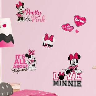 Peel and Stick 28 Piece Mickey and Friends Minnie Loves Wall Decal By Room Mates