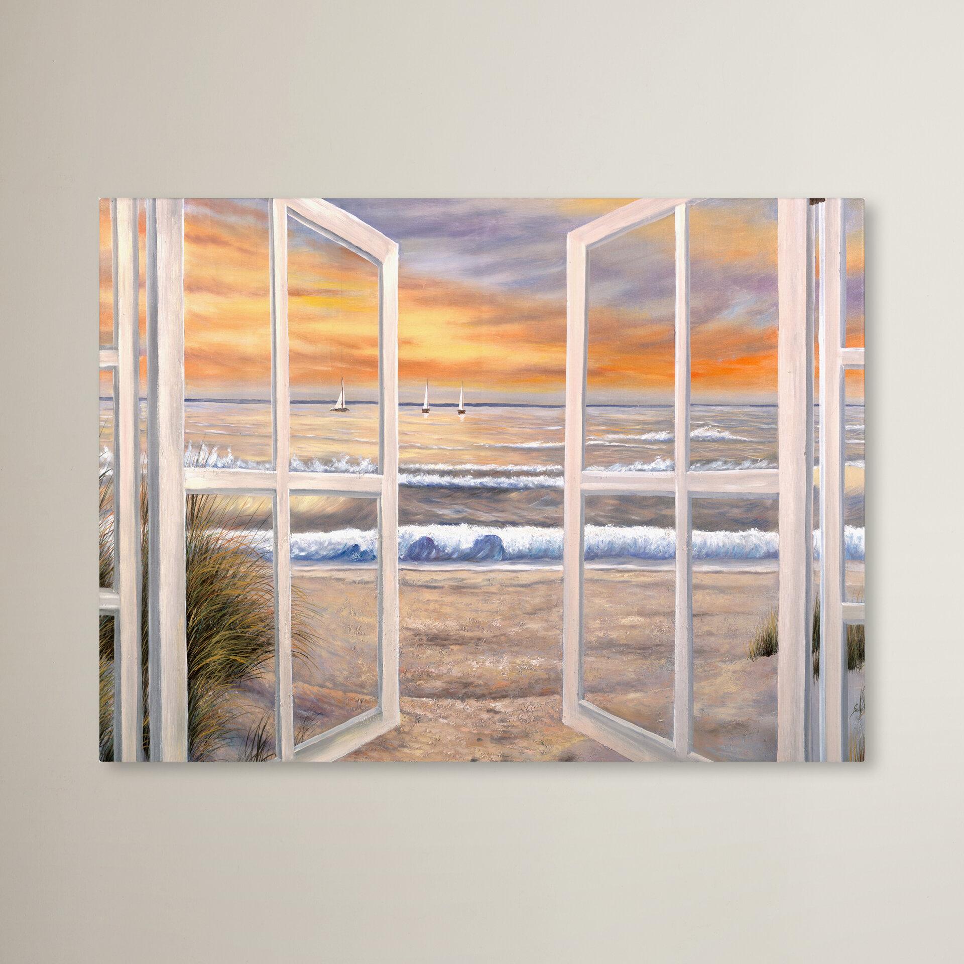 Trademark Global Elongated Window Painting Print On Canvas Reviews Wayfair