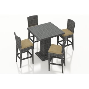Ameer 5 Piece Bar Height Dining Set with Cushions
