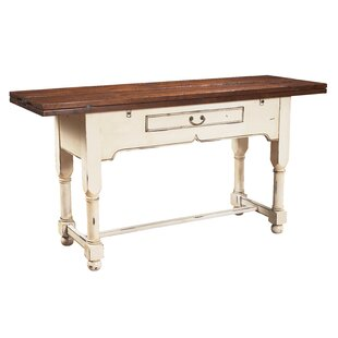 Flip Top Console Table with Drawer by MacKenzie-Dow