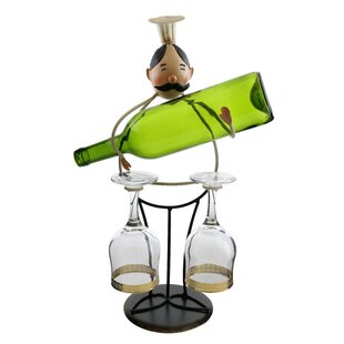 Luann Happy Chef Wine and Glass Holder 1 ..