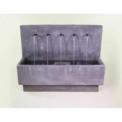 Concrete Penta Wall Fountain Giannini Garden Ornaments