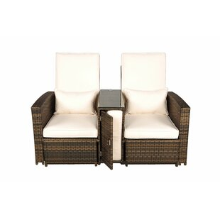 Harker Rattan Double Sun Lounger With Cushion Image