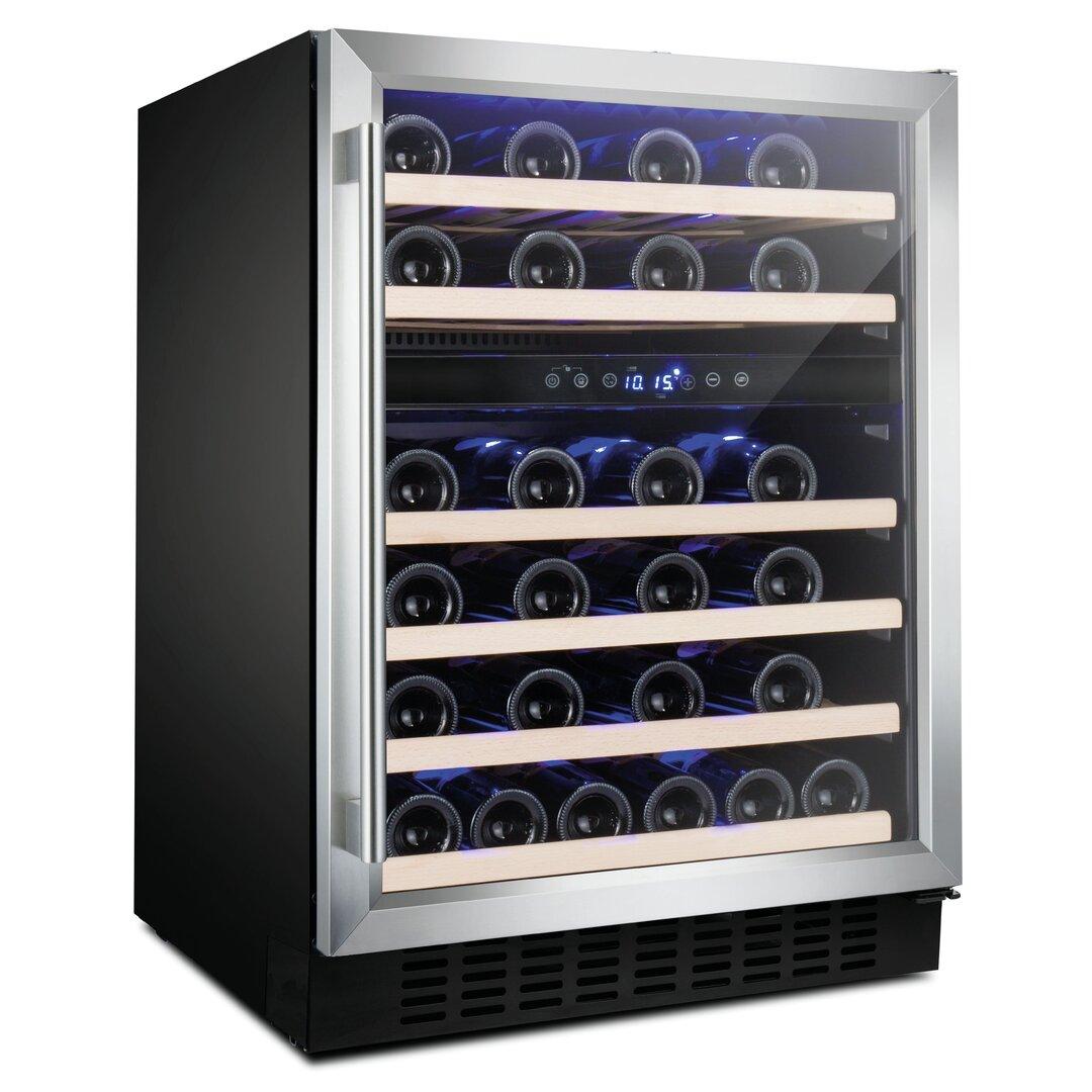 600 MM Freestanding Wine Cooler, 46 Bottle Capacity, Dual
