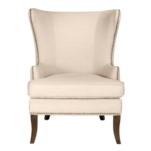 Max Wingback Chair by Gracie Oaks Savings