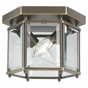 Price Check Pinecrest 2-Light Outdoor Flush Mount By Charlton Home