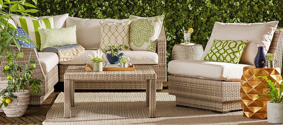 Beau Patio Furniture Ft. Sunbrella Fabric