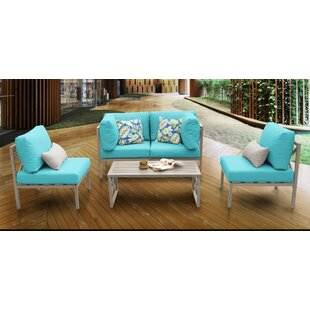 Carlisle 5 Piece Sofa Seating Group with Cushions