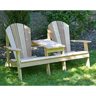 Celso Wood Adirondack Chair with Table