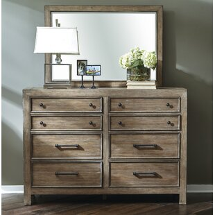 Chandelle 8 Drawer Double Dresser with Mirror
