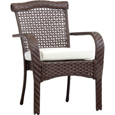 South Perth Stacking Patio Dining Chair with Cushion Bay Isle Home Color: Cast Shale