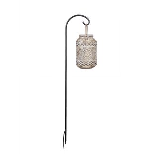 Reviews Solar Outdoor Punched Metal 1-Light LED Integrated Pathway Light By River of Goods