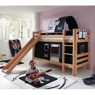 Faircloth European Single Bunk Bed With Curtain, Tunnel And Pocket By Zoomie Kids