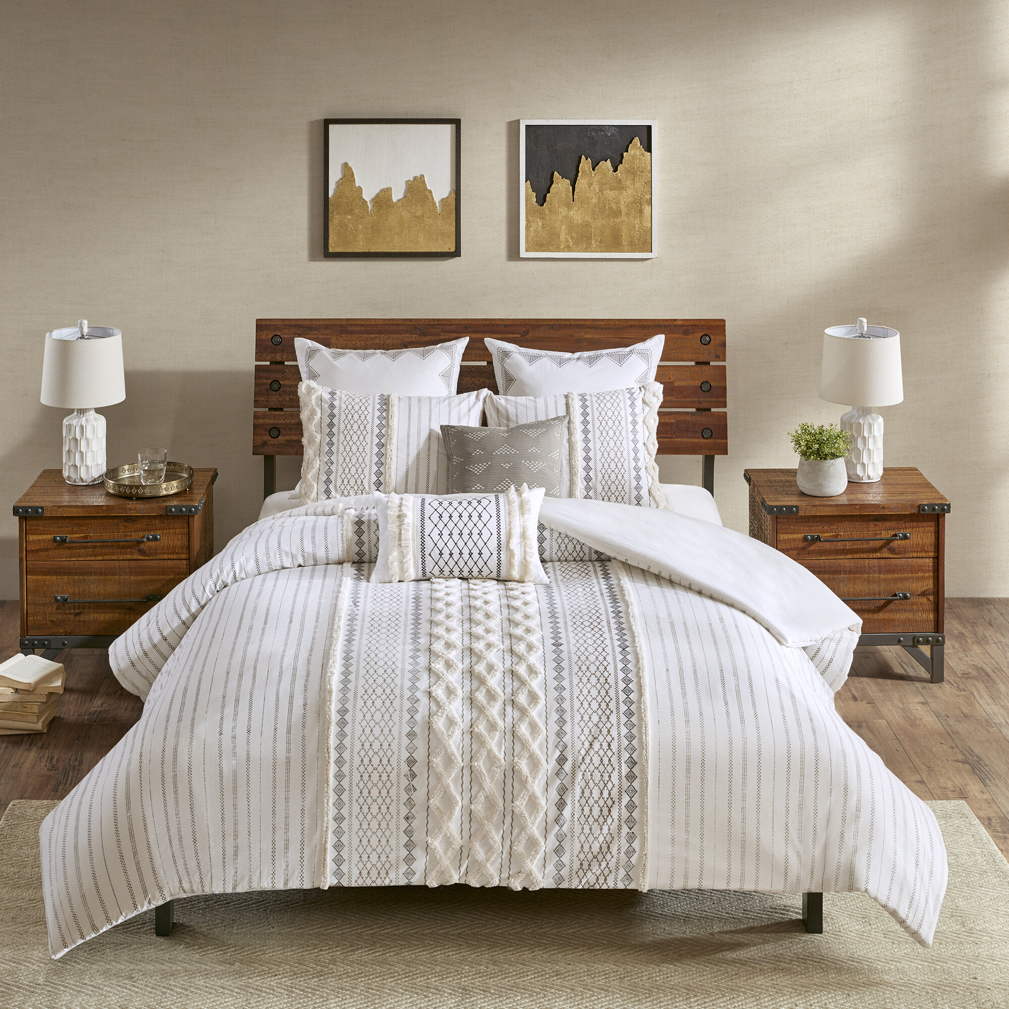 Modern & Contemporary 100 Cotton Comforter Queen | AllModern