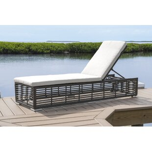 Panama Jack Outdoor Reclining Chaise Lounge with Cushion