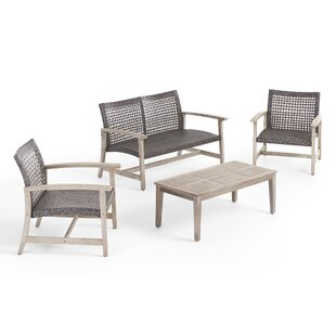Pack 4 Piece Sofa Seating Group by Bayou Breeze