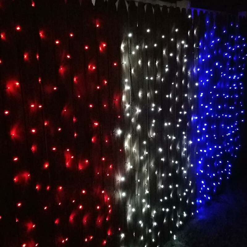 Led Strands Patriotic 200 Light Solar String