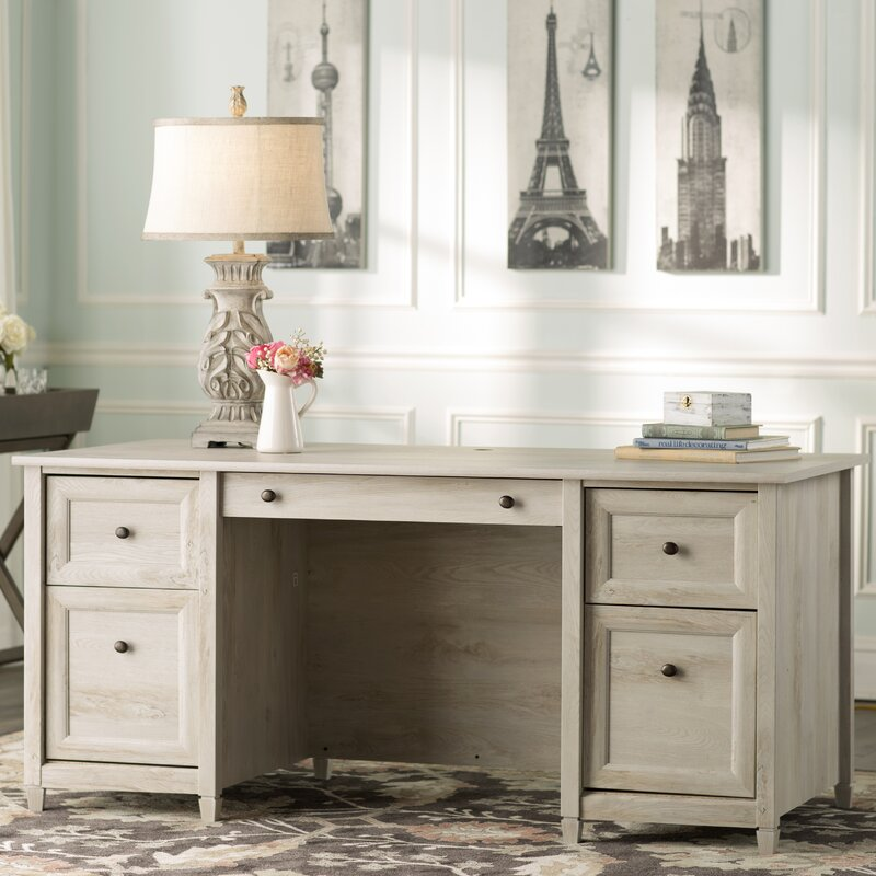 Lark Manor Datur Executive Desk & Reviews | Wayfair