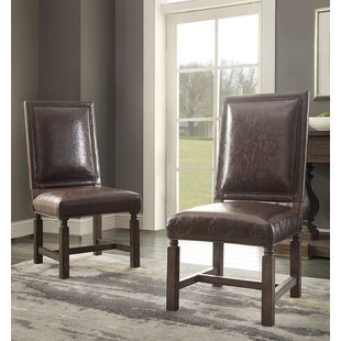 Distressed Upholstered Dining Chair (Set of 2) Hazelwood Home