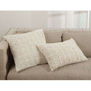 Heanor Smocked Cotton Throw Pillow
