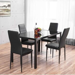 Kitchen Table And Chairs Uk Dining table sets kitchen table chairs wayfair rabin glass dining set with 4 chairs workwithnaturefo