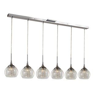 Bussiere 6-Light Kitchen Island Pendant by Charlton Home