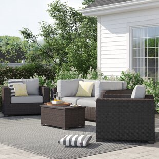 Fernando 5 Piece Sofa Seating Group with Cushions