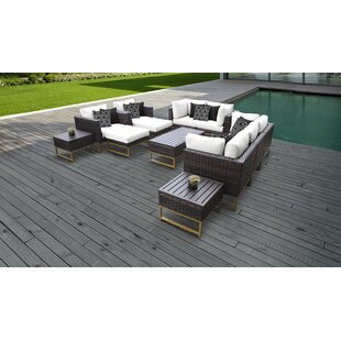 Barcelona Outdoor 12 Piece Sectional Seating Group with Cushions