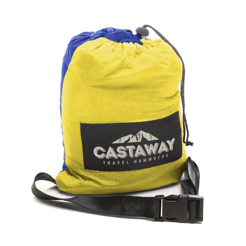 travel double nylon camping hammock castaway hammocks travel double nylon camping hammock  u0026 reviews      rh   wayfair