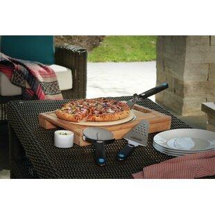 4 Piece Lover's Starter Kit Pizza Grilling Stone Set