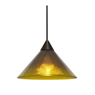 Kevin 1-Light Cone Pendant by Brayden Studio