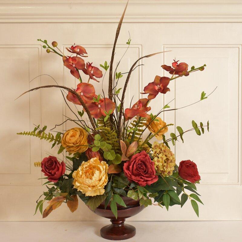 Floral Home Decor Silk Flower Arrangement Wayfair
