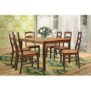 TTP Furnish Stettler Extendable Solid Wood Dining Table