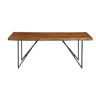Templeman Live Edge Acacia Wood Dining Table Union Rustic
