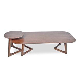Miguel 2 Piece Walnut Coffee Table Set by Corrigan Studio