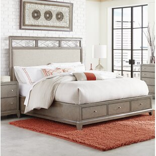 Ophelia & Co. Whicker Upholstered Storage Platform Bed