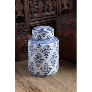 Hand Painted Tea Baroque 4 qt. Kitchen Canister