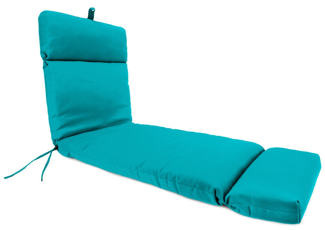 French Edge Outdoor Chaise Lounge Cushion